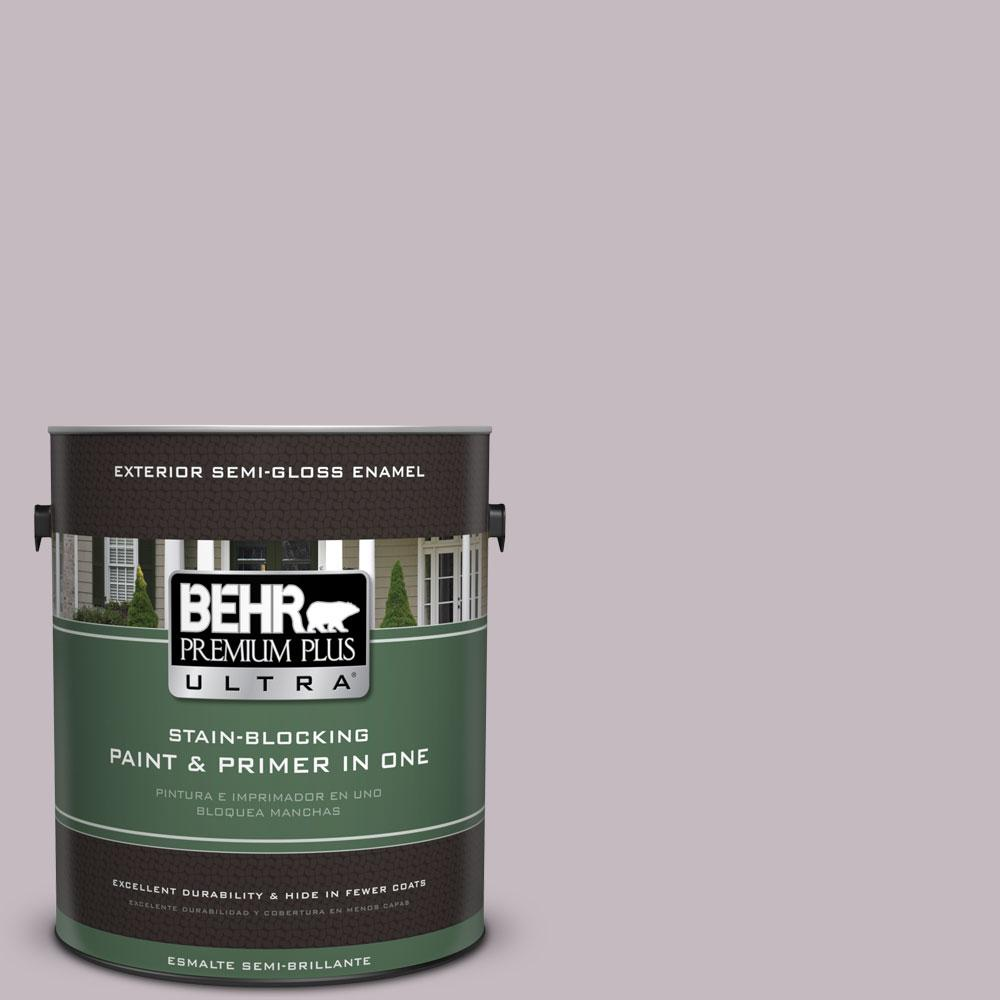1-gal. #N110-2 Mulberry Stain Semi-Gloss Enamel Exterior Paint
