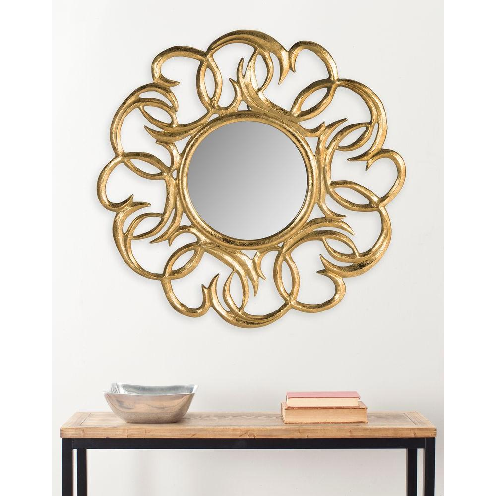 Cecile 28 in. H x 28 in. W Round Framed Mirror
