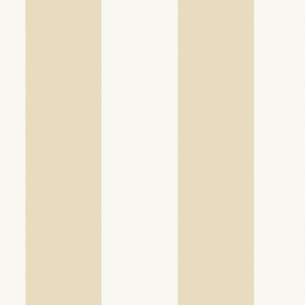The Wallpaper Company 56 sq. ft. Beige Extensive Stripe Wallpaper