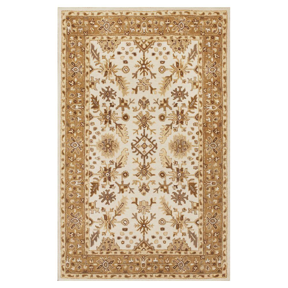 Tapestry Craft Ivory/Coffee 8 ft. x 10 ft. 6 in. Area