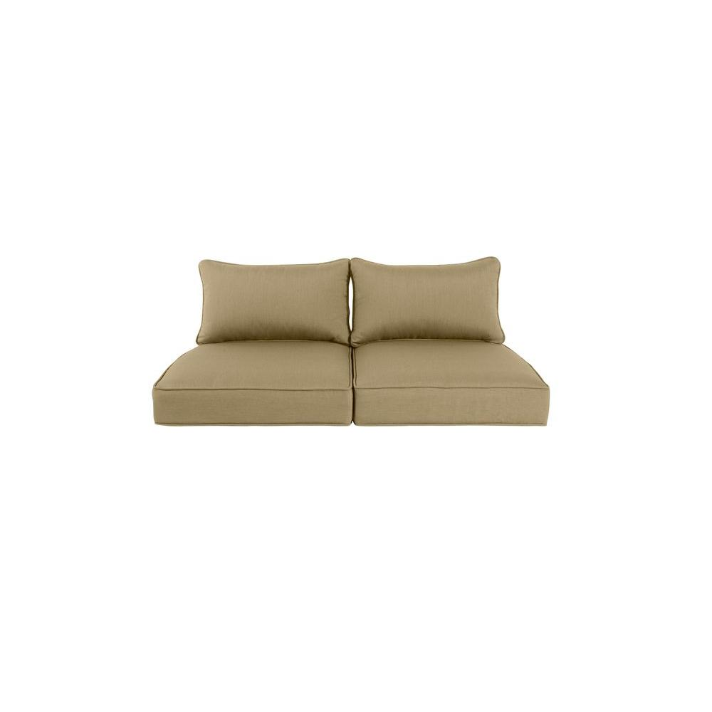Greystone Replacement Outdoor Loveseat Cushion in Meadow