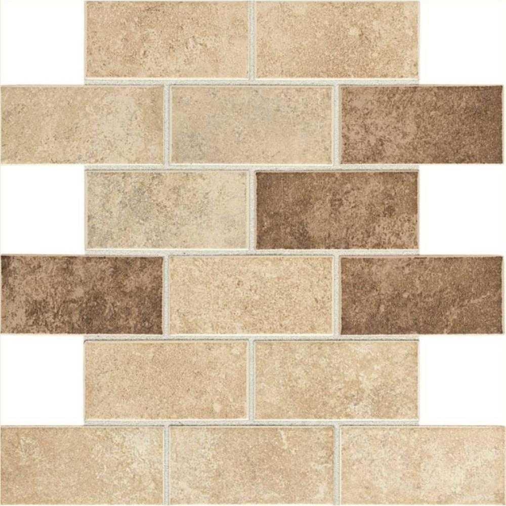 Daltile Santa Barbara Pacific Sand Blend 12 in. x 12 in. x 6 mm Glazed Ceramic Mosaic Tile