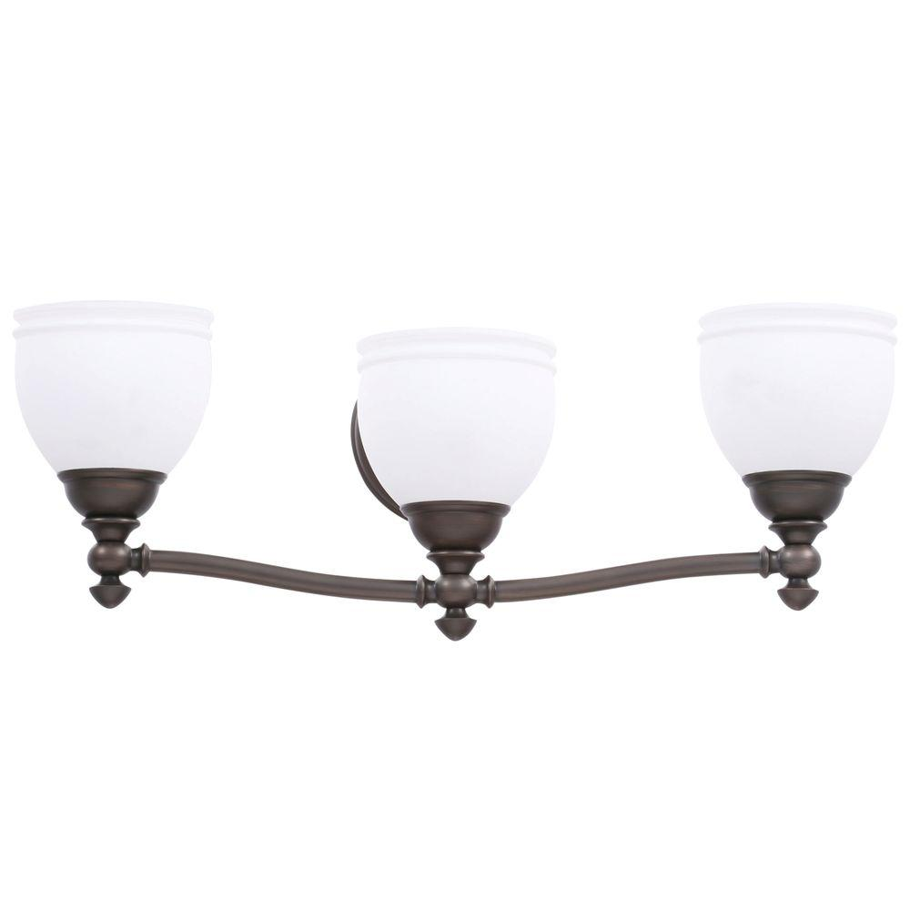 Hampton Bay Stanton Hills 3-Light Sable Bronze Patina Bath Light