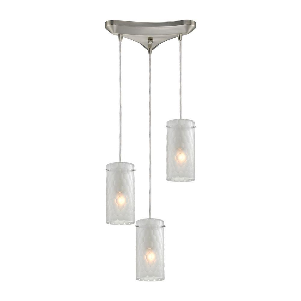 Synthesis 3-Light Satin Nickel Pendant
