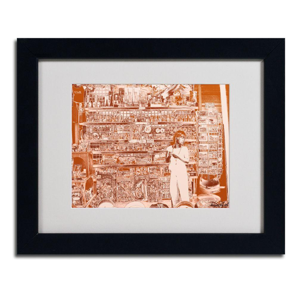 null 11 in. x 14 in. Lil Italy III Matted Framed Art