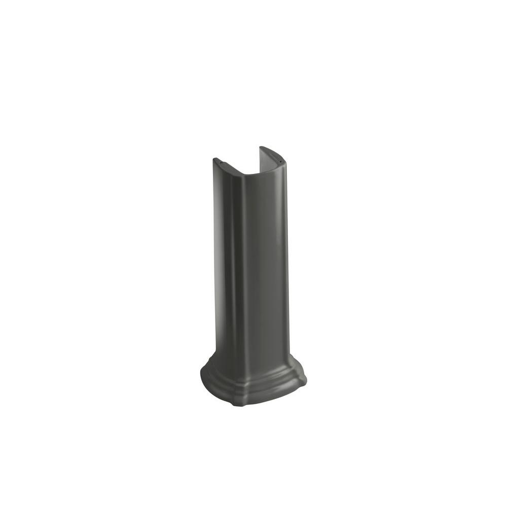 Portrait Vitreous China Pedestal in Thunder Grey