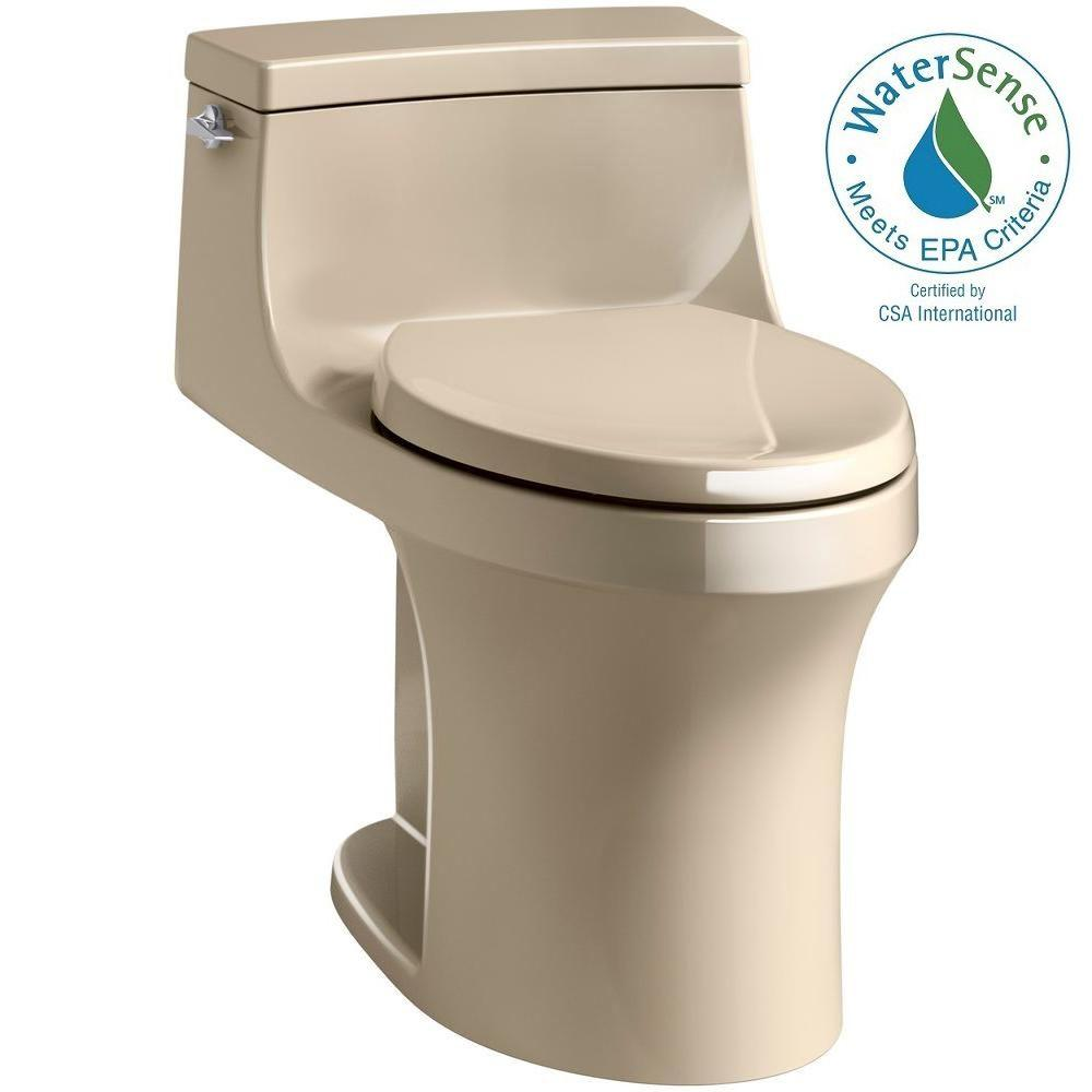 San Souci 1-piece 1.28 GPF Single Flush Elongated Toilet in Mexican
