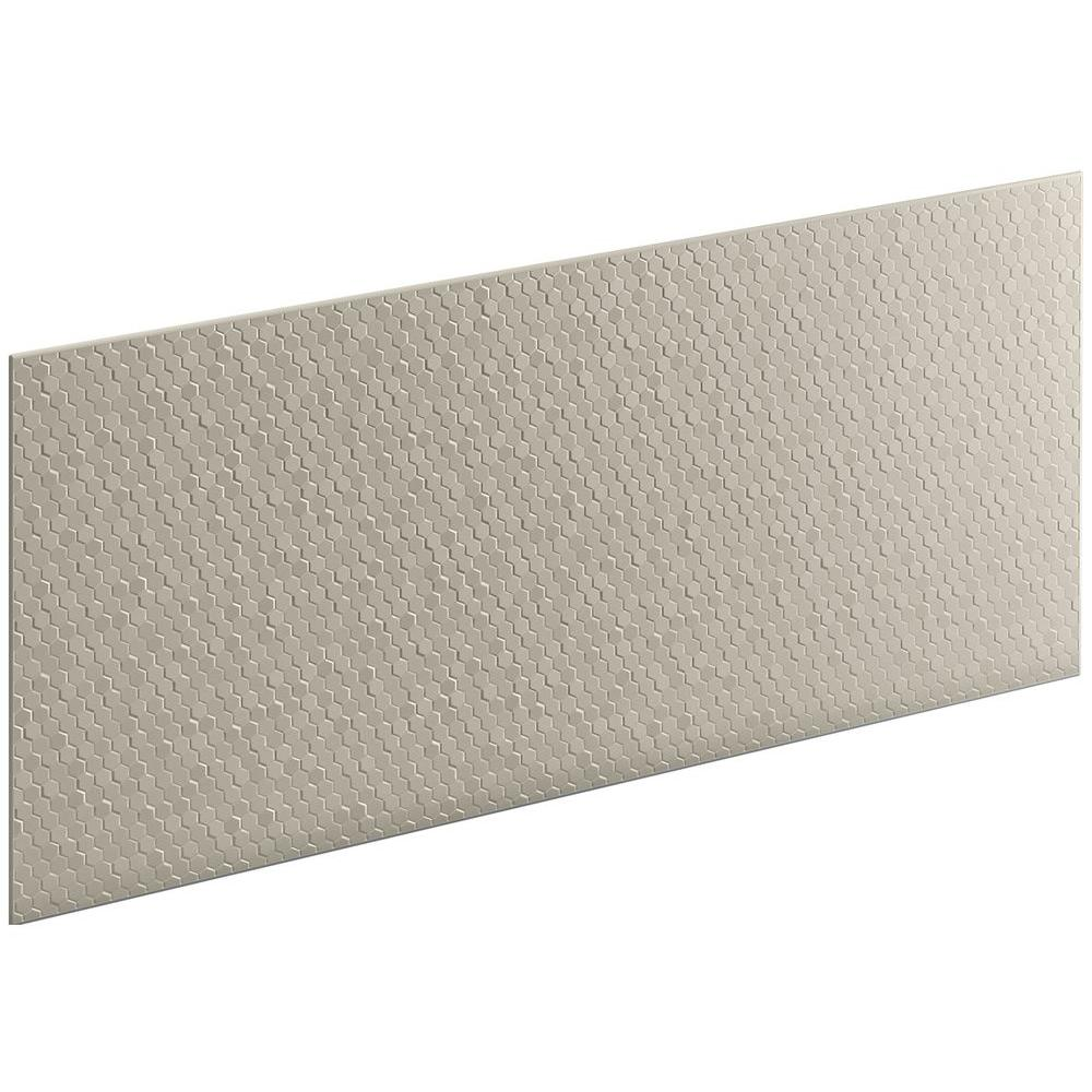 KOHLER Choreograph 0.3125 in. x 60 in. x 28 in. 1-Piece Shower Wall Panel in Sandbar with Hex Texture