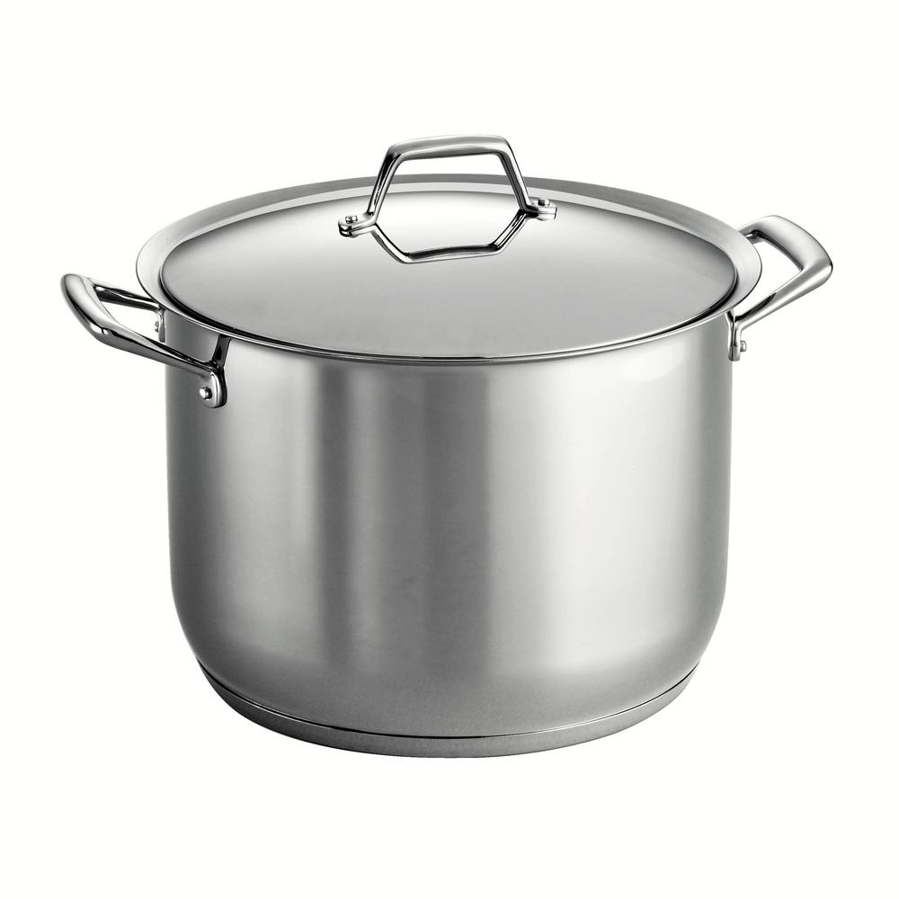 Gourmet Prima 16 Qt. Stainless Steel Stock Pot with Lid