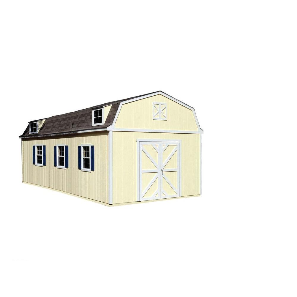Sequoia 12 ft. x 24 ft. Wood Storage Building Kit with Floor