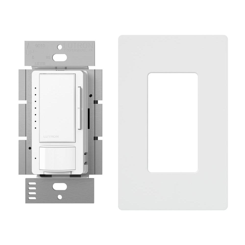 Maestro 150-Watt Single-Pole/3-Way LED Dimmer with Motion Sensor and Wallplate,