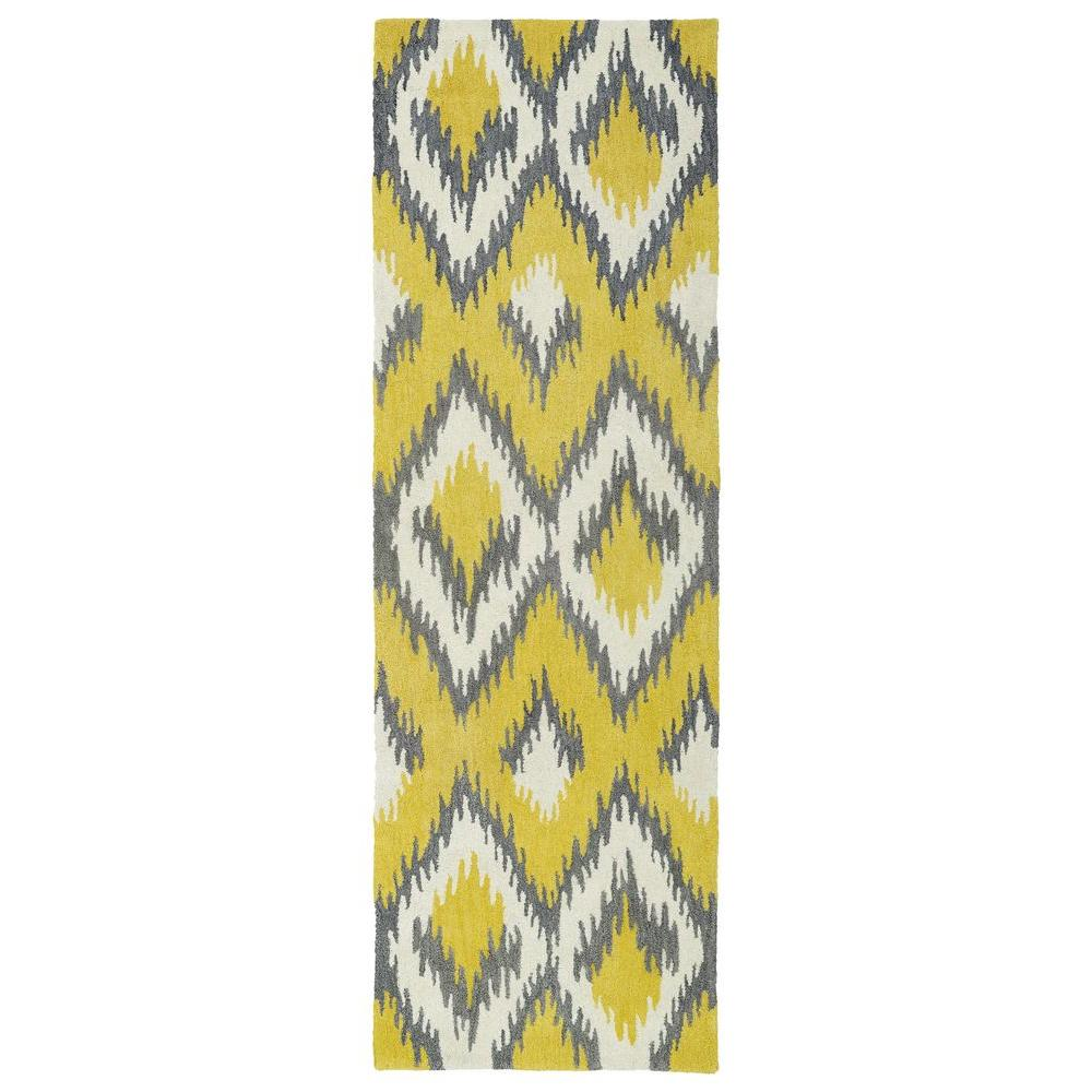 Global Inspiration Yellow 2 ft. 6 in. x 8 ft. Runner