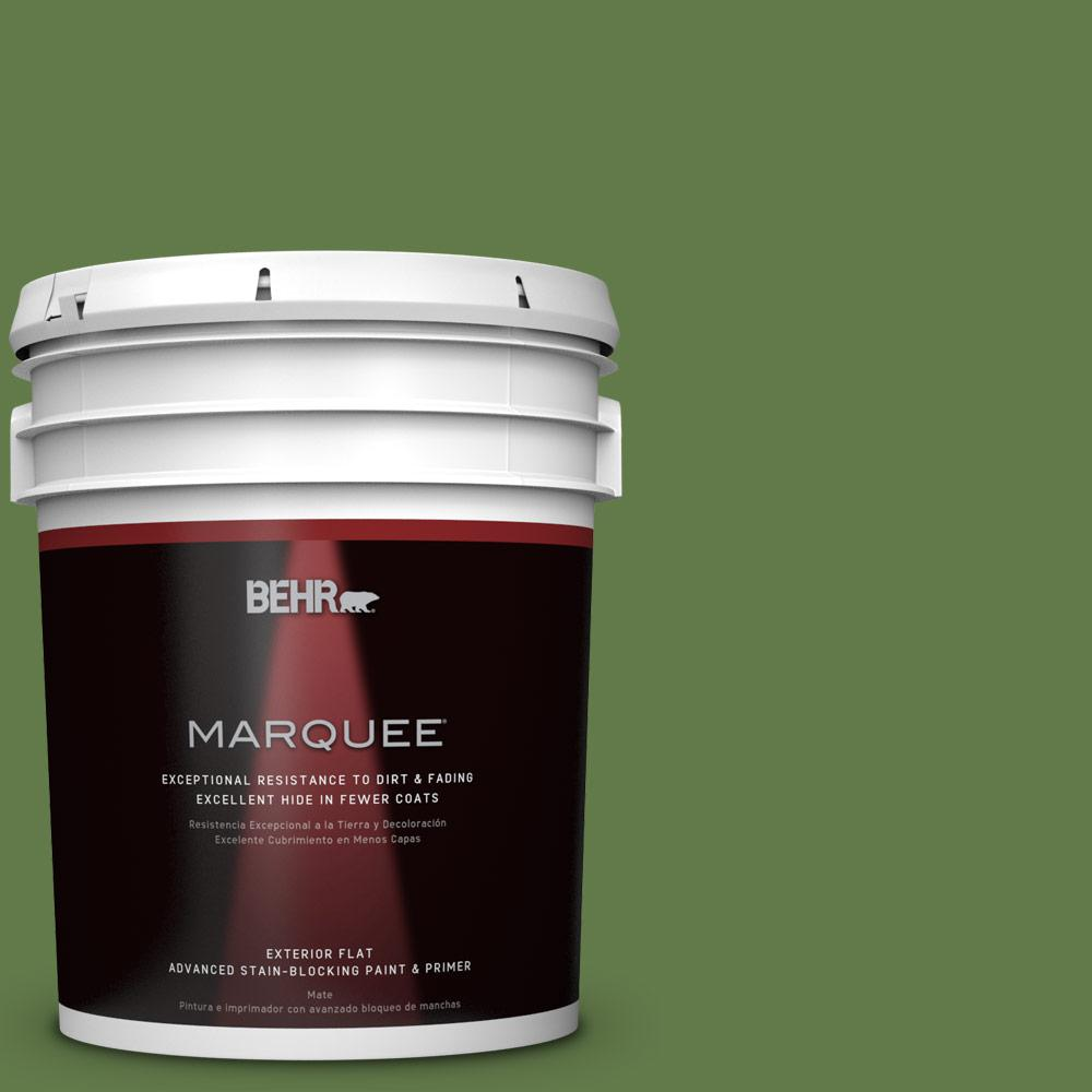 BEHR MARQUEE 5-gal. #M370-7 Mown Grass Flat Exterior Paint