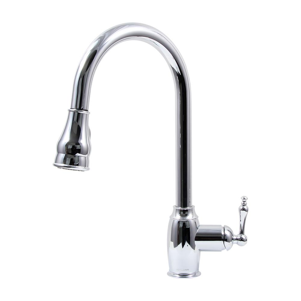 Coronado Platinum Series Single-Handle Pull-Out Sprayer Kitchen Faucet in