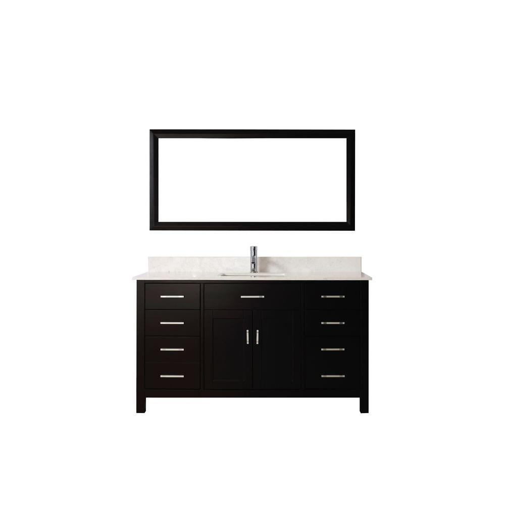 Studio Bathe Kalize 60 in. Vanity in Espresso with Solid Surface