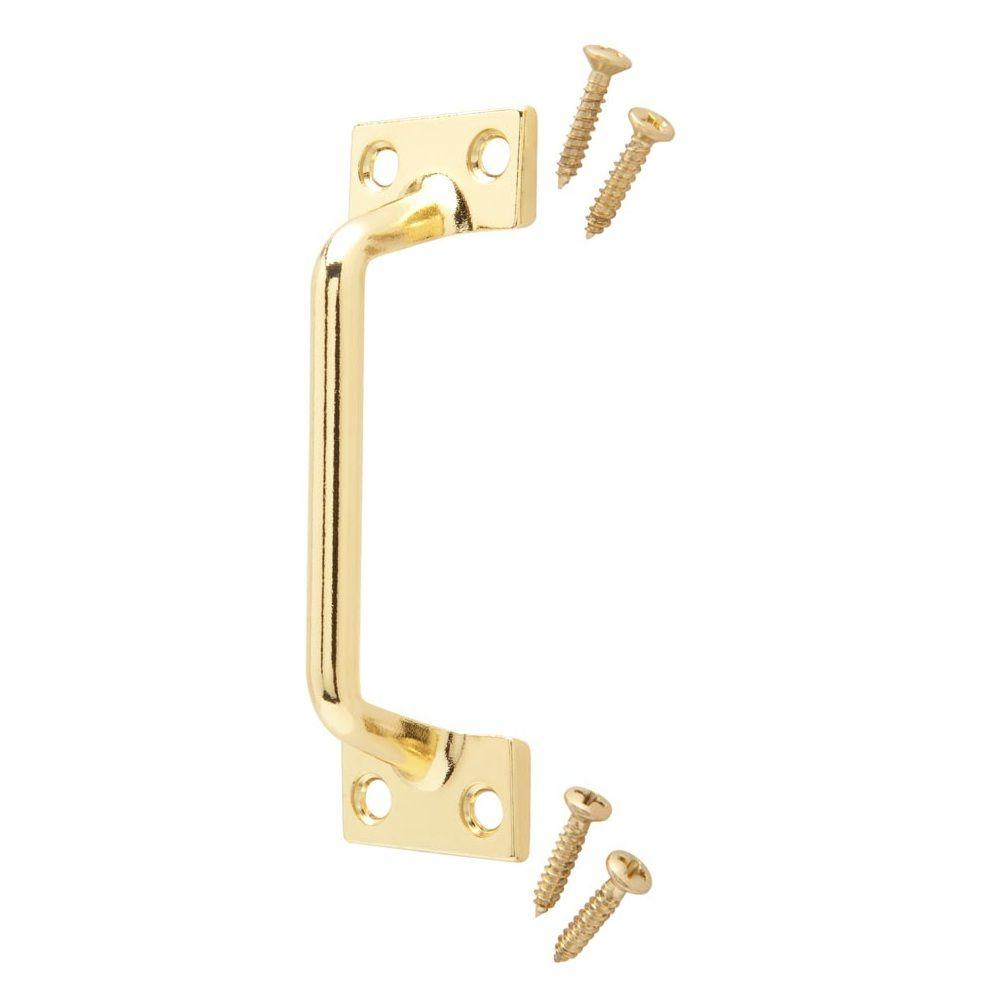 3-7/8 in. Bright Brass Utility Pull