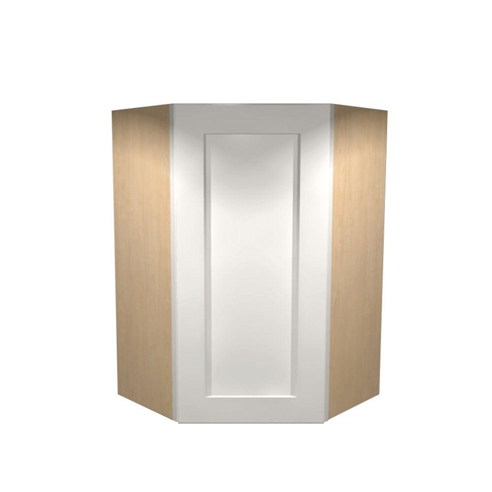 27x36x27 in. Newport Assembled Wall Angle Cabinet in Pacific White