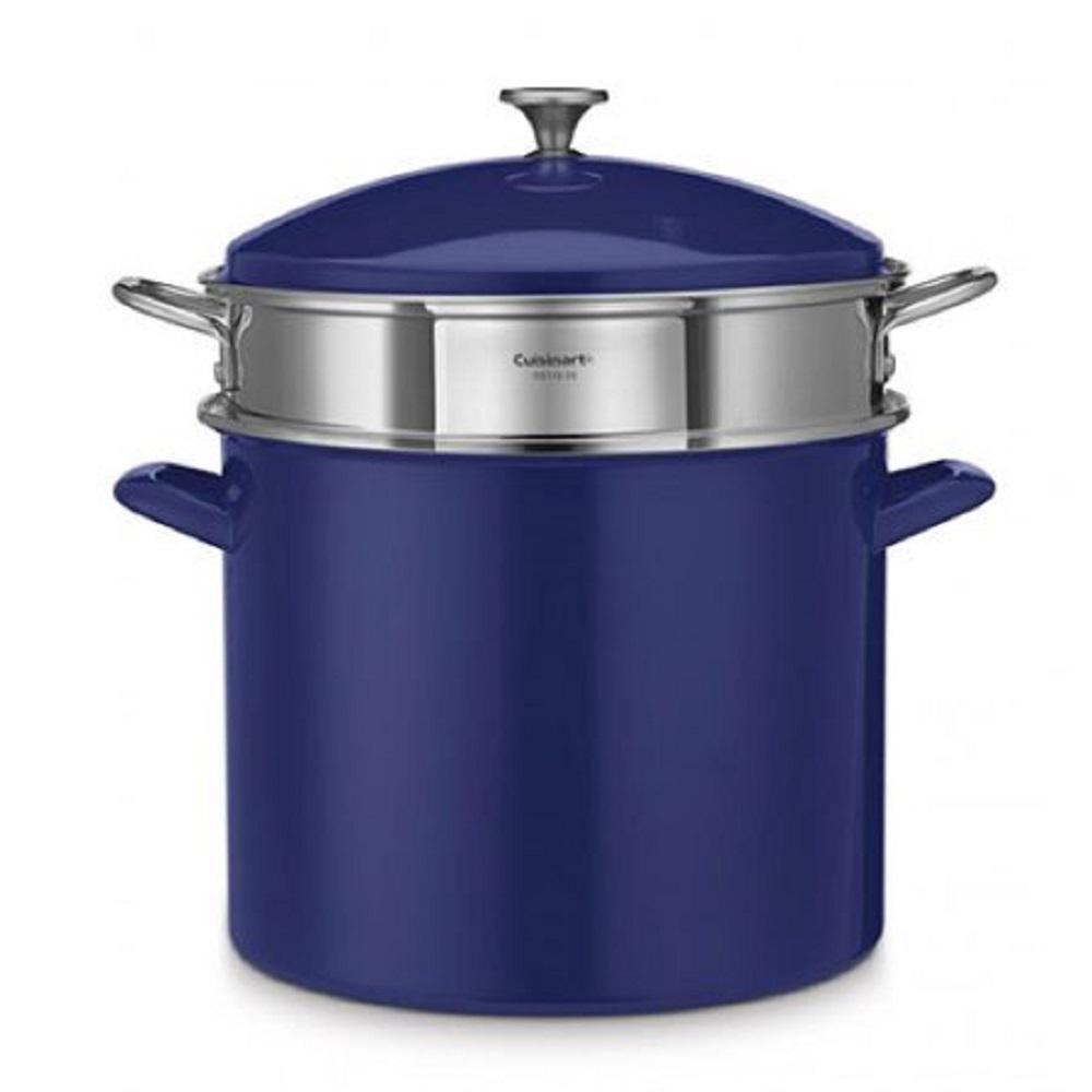 Cuisinart Chef's Classic 20 Qt. Stockpot in Cobalt Blue-EOS206-33CBLS - The