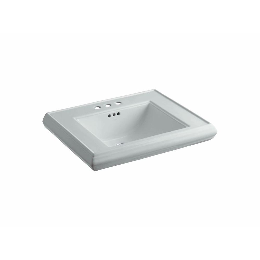 Memoirs 5-3/8 in. Ceramic Pedestal Sink Basin in Ice Grey with