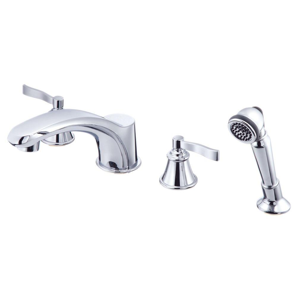 Danze Aerial Roman Tub Faucet with Personal Shower with Valve in Chrome-DISCONTINUED