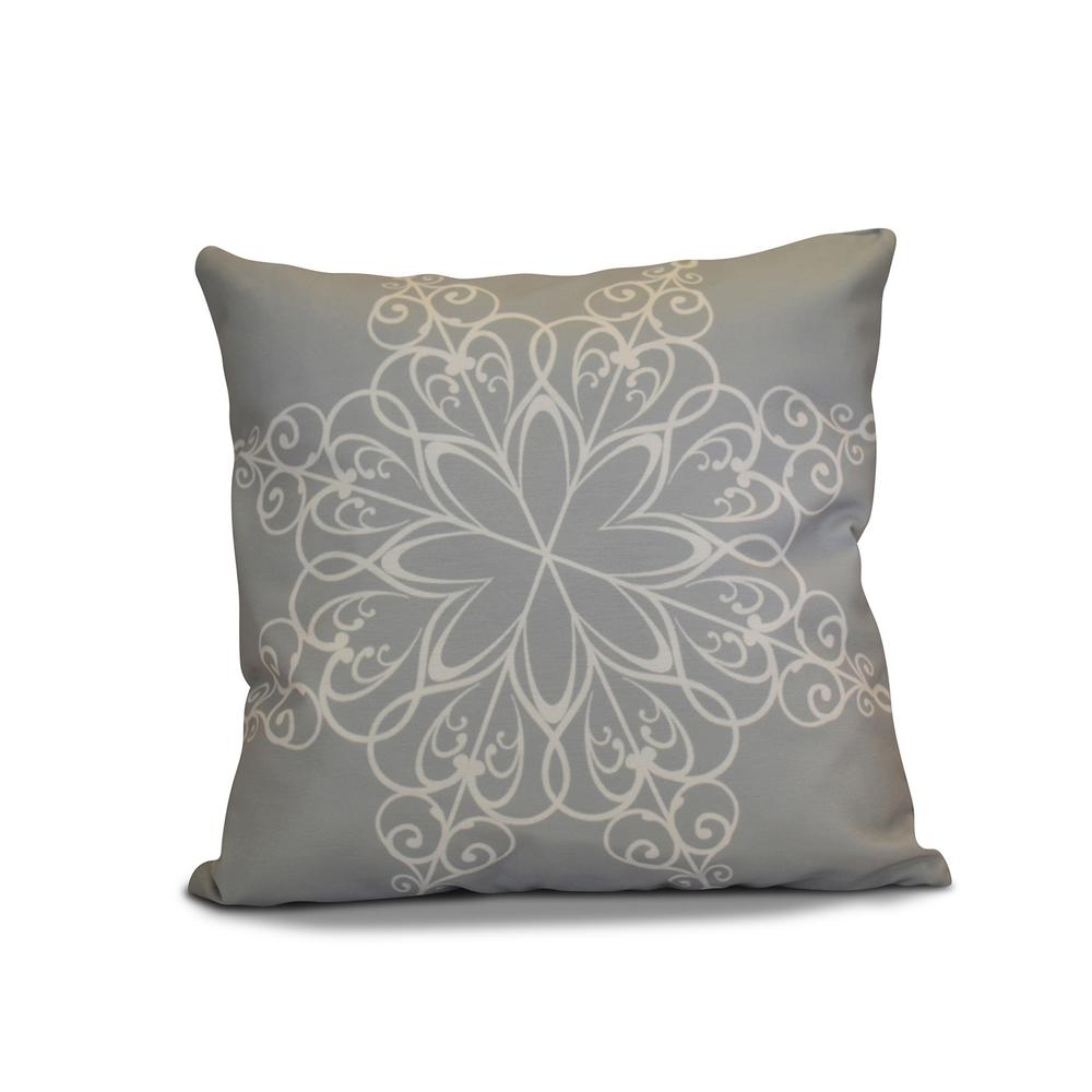 16 in. Snowflake Holiday Pillow in Gray-PHGN681GY1-16 - The Home Depot