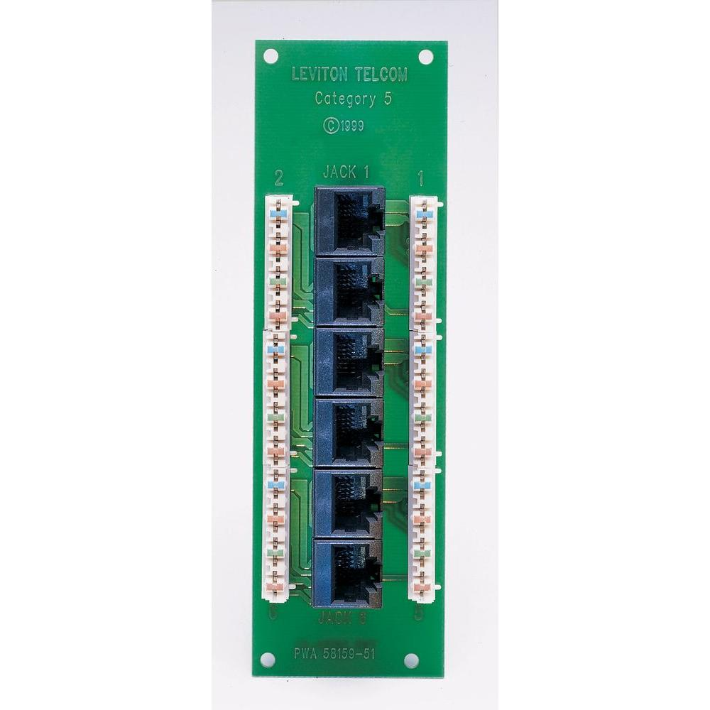 Leviton 1x6 Cat5E Voice and Data Expansion Board