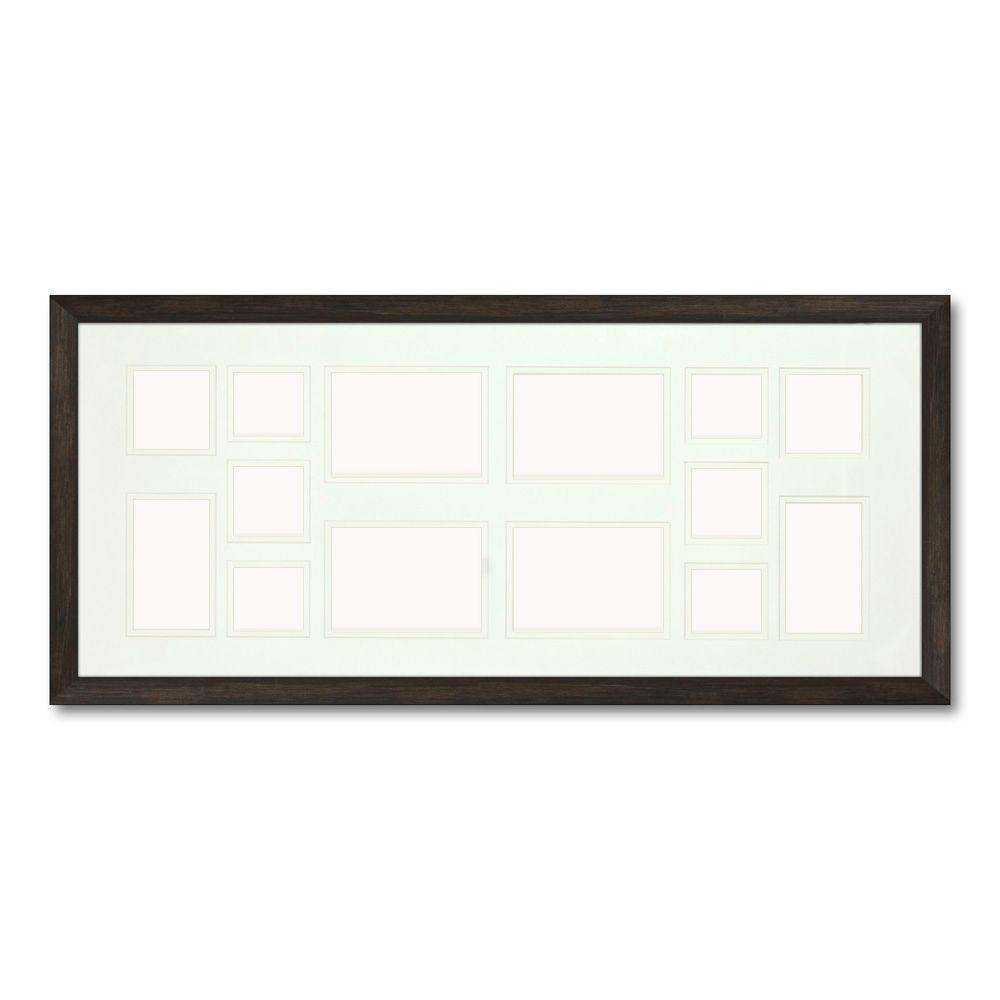 PTM Images 14-Opening Holds Multiple Photos Matted Brown Photo Collage Frame (Set of 2)