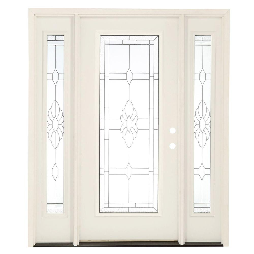 Feather river doors 67 5 in x in sapphire patina for Fiberglass front entry doors