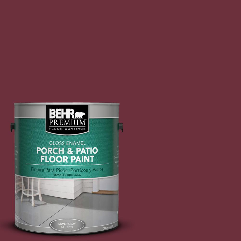 1 gal. #BXC-90 Wild Cranberry Gloss Porch and Patio Floor Paint