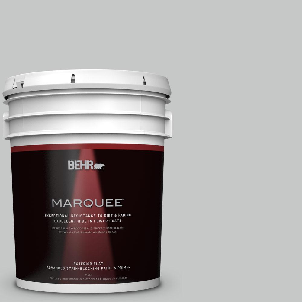 5-gal. #BNC-07 Frosted Silver Flat Exterior Paint