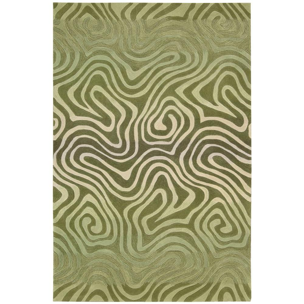 Contour Avocado 5 ft. x 7 ft. 6 in. Area Rug