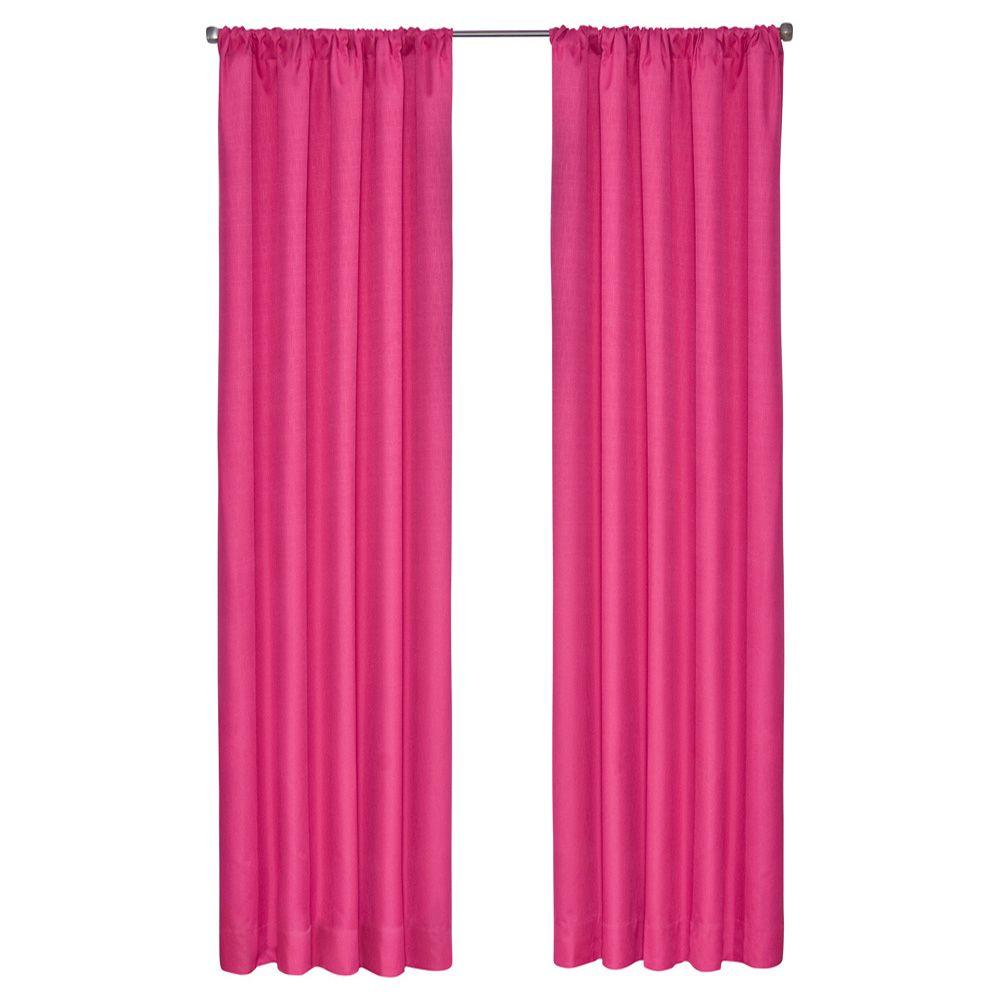 Kendall Blackout Raspberry Curtain Panel, 63 in. Length