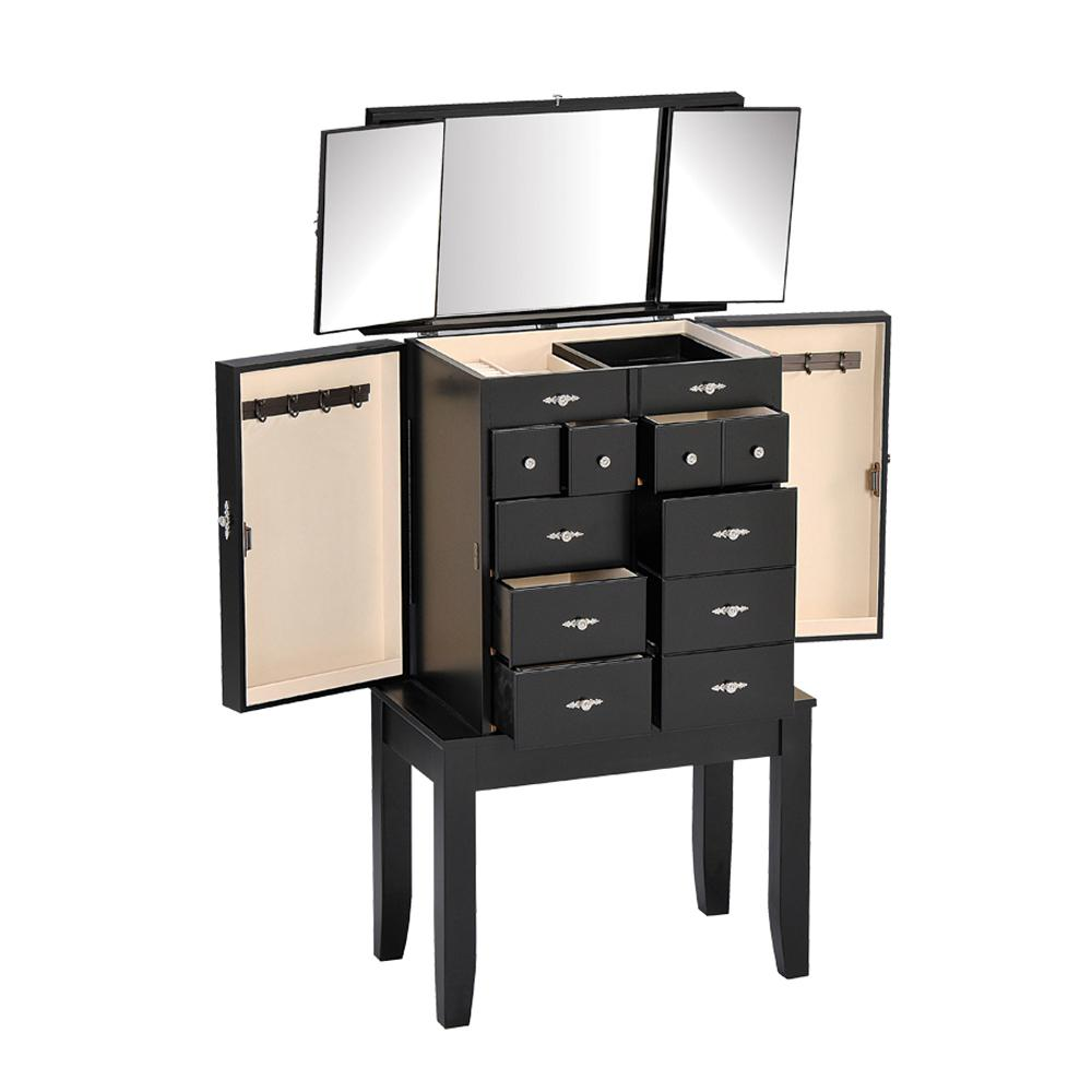 Acme Furniture Tiren Jewelry Armoire in Black-97008 - The Home Depot