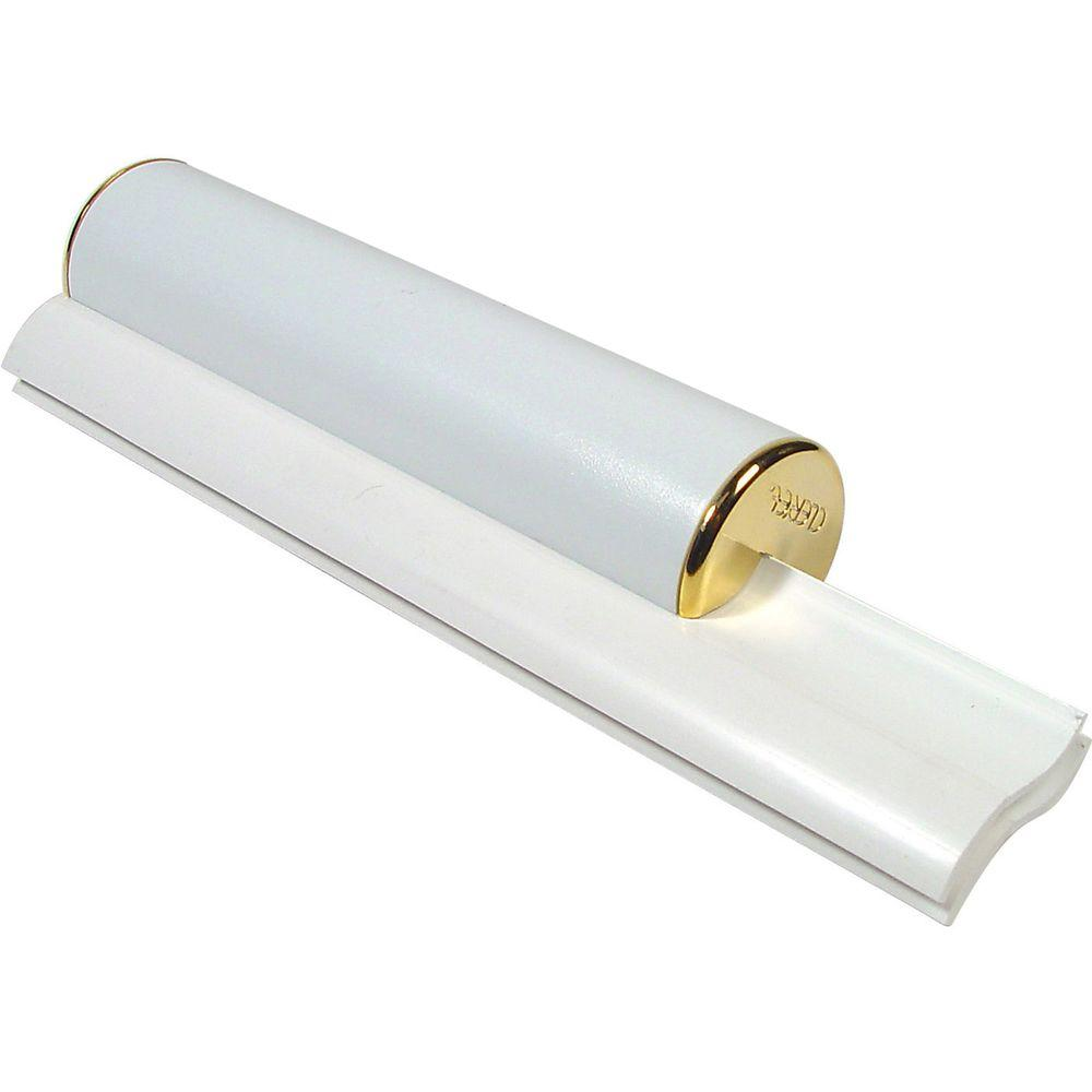 Cler'et Elite Dual Bladed Shower Squeegee in White with Gold Trim