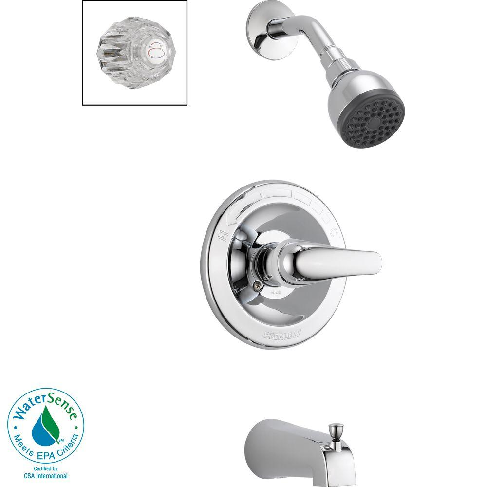 Peerless Core 1-Handle Tub and Shower Faucet in Chrome