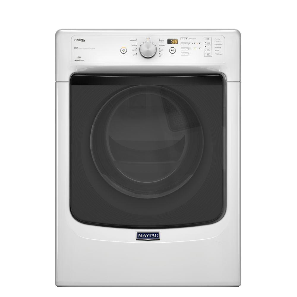 Maxima 7.3 cu. ft. Gas Dryer with Steam in White