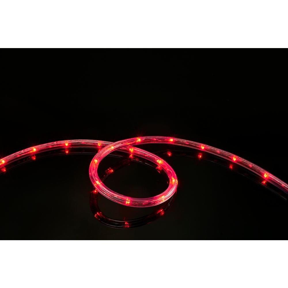 Meilo 16 ft. LED Red Rope Lights-ML12-MRL16-RD - The Home Depot