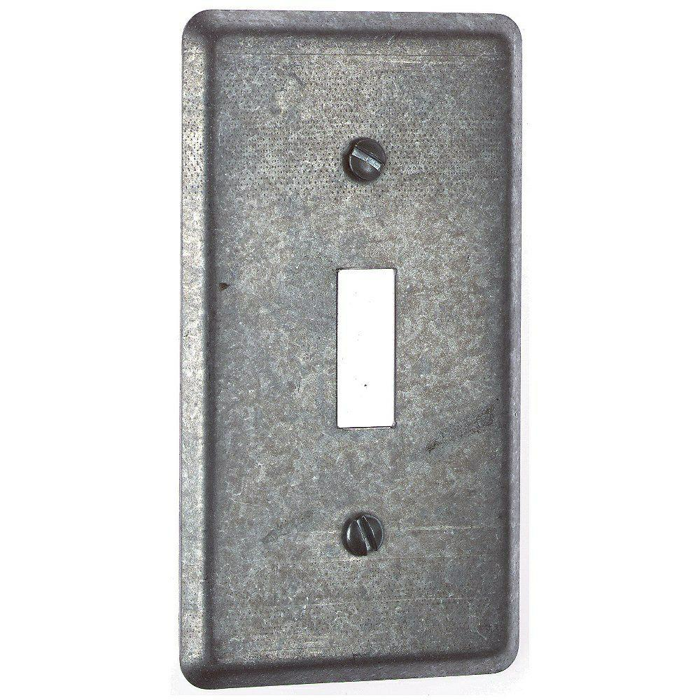 1 Gang 4 in. Utility Steel Cover (Case of 25)