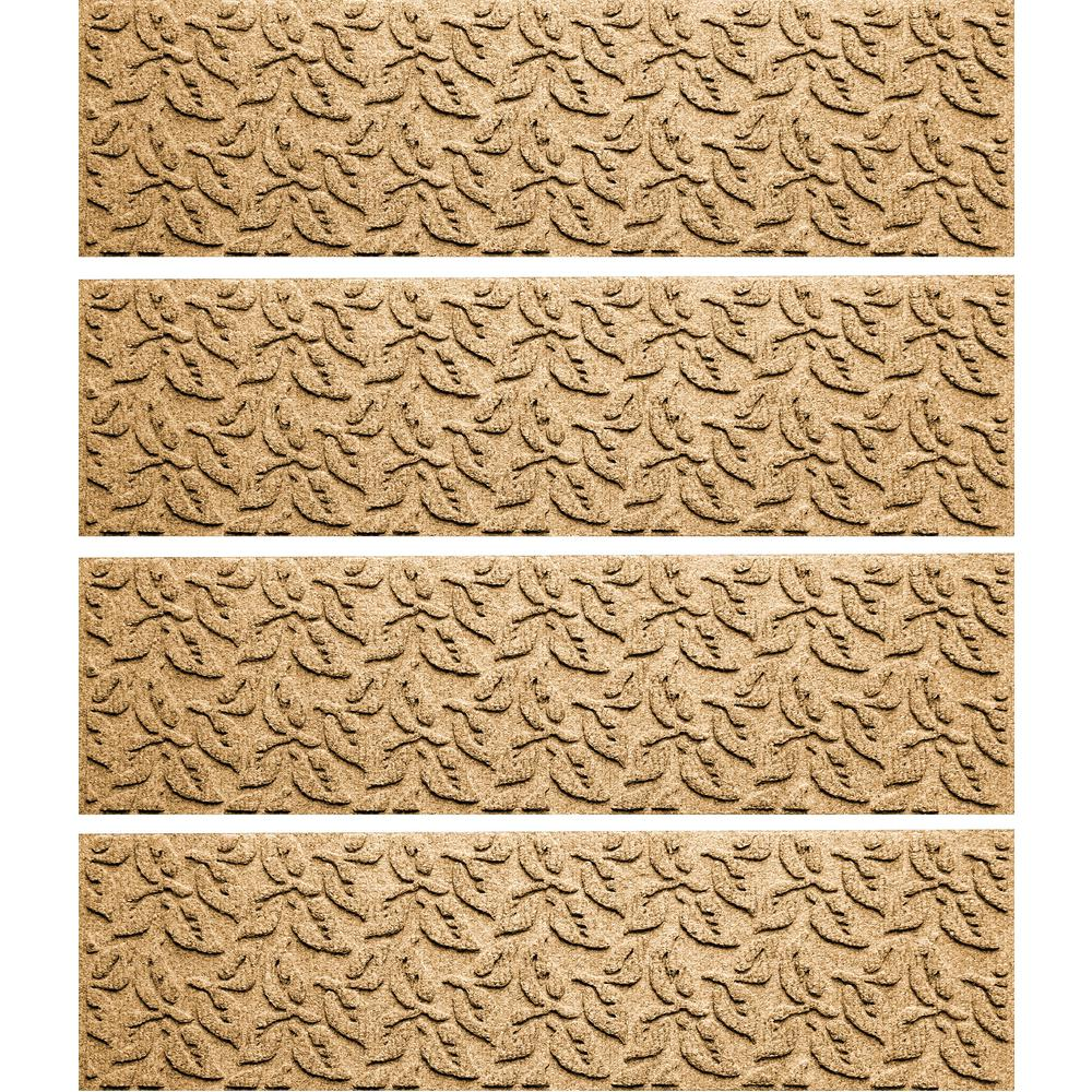 Gold 8.5 in. x 30 in. Dogwood Leaf Stair Tread (Set