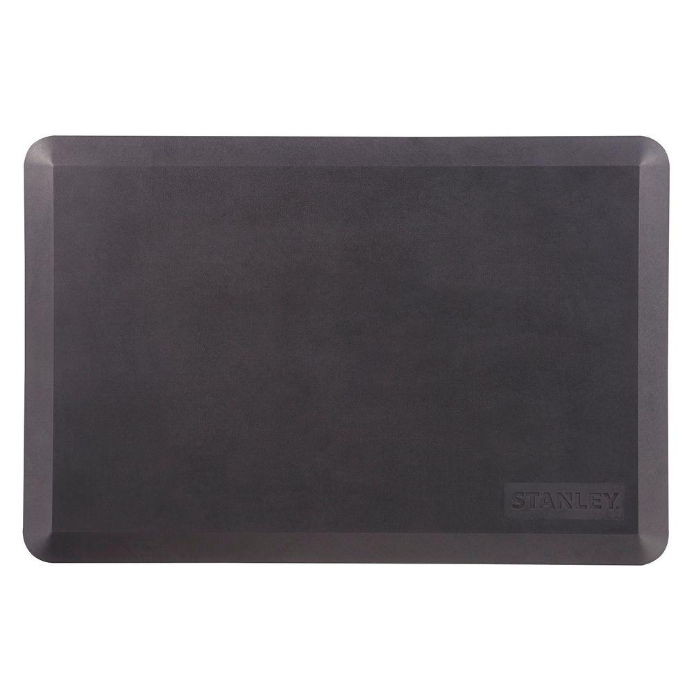 Stanley 20 in. x 30 in. Black Home and Office Anti-Fatigue Utility Mat