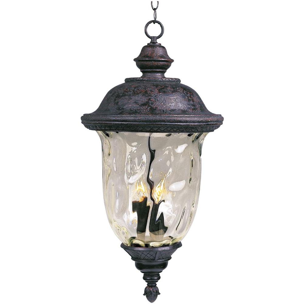 Maxim Lighting Carriage House Die Cast 3-Light Oil-Rubbed Bronze Outdoor Hanging
