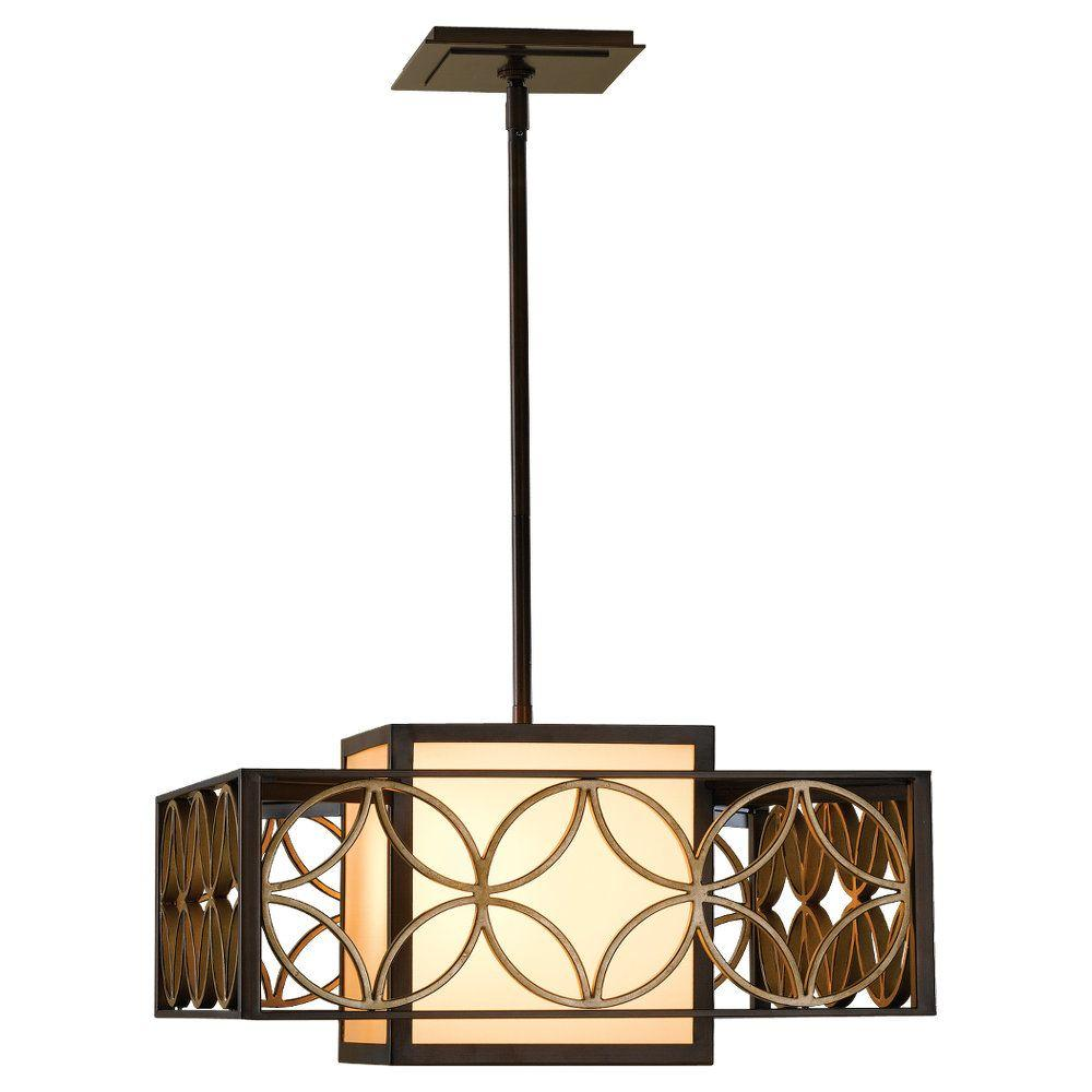 Feiss Remy 2-Light Heritage Bronze Shade Pendant