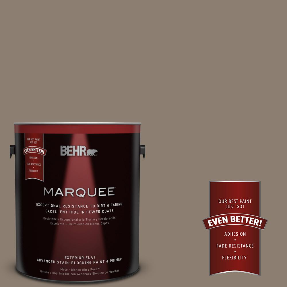 BEHR MARQUEE 1-gal. #BNC-36 Restful Brown Flat Exterior Paint