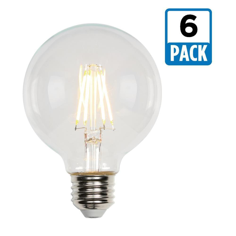 40W Equivalent Soft White G25 Dimmable Filament LED Light Bulb (6-Pack)