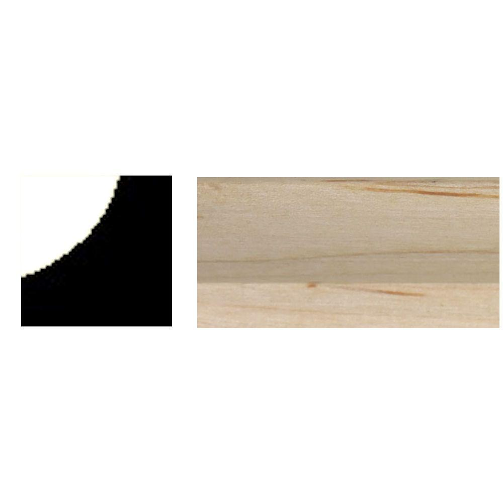 null 3/4 in. x 3/4 in x 8 ft. Maple Inside Corner Moulding-DISCONTINUED