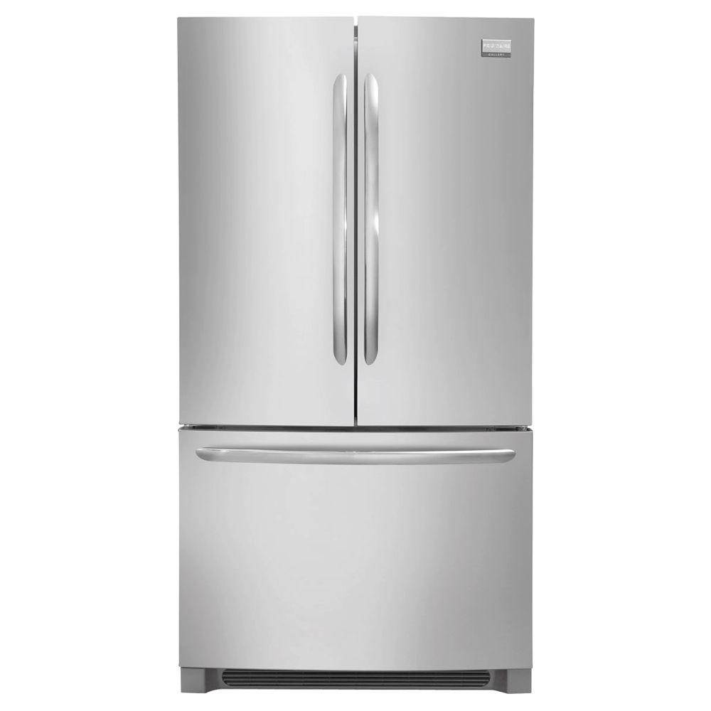samsung 33 in w 17 5 cu ft french door refrigerator in stainless steel and counter depth. Black Bedroom Furniture Sets. Home Design Ideas