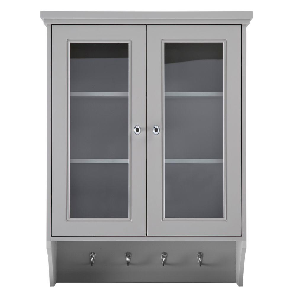 Home decorators collection gazette 23 1 2 in w x 31 in h for Grey bathroom cupboard