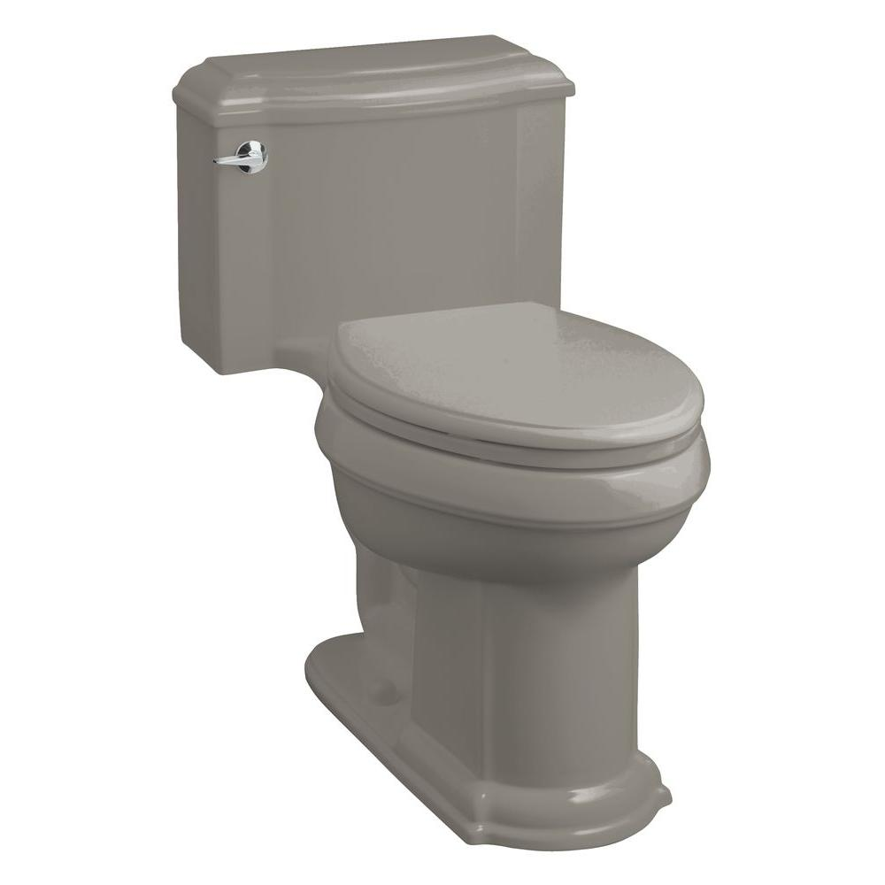 KOHLER Devonshire Comfort Height 1-Piece 1.6 GPF Elongated Toilet in Cashmere-DISCONTINUED