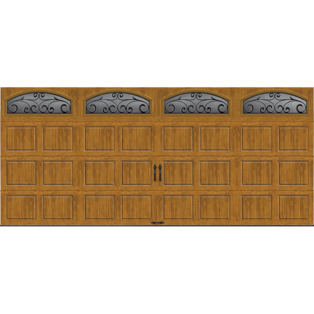 Clopay Gallery Collection 16 ft. x 7 ft. 18.4 R-Value Intellicore Insulated Ultra-Grain Medium Garage Door with Windows