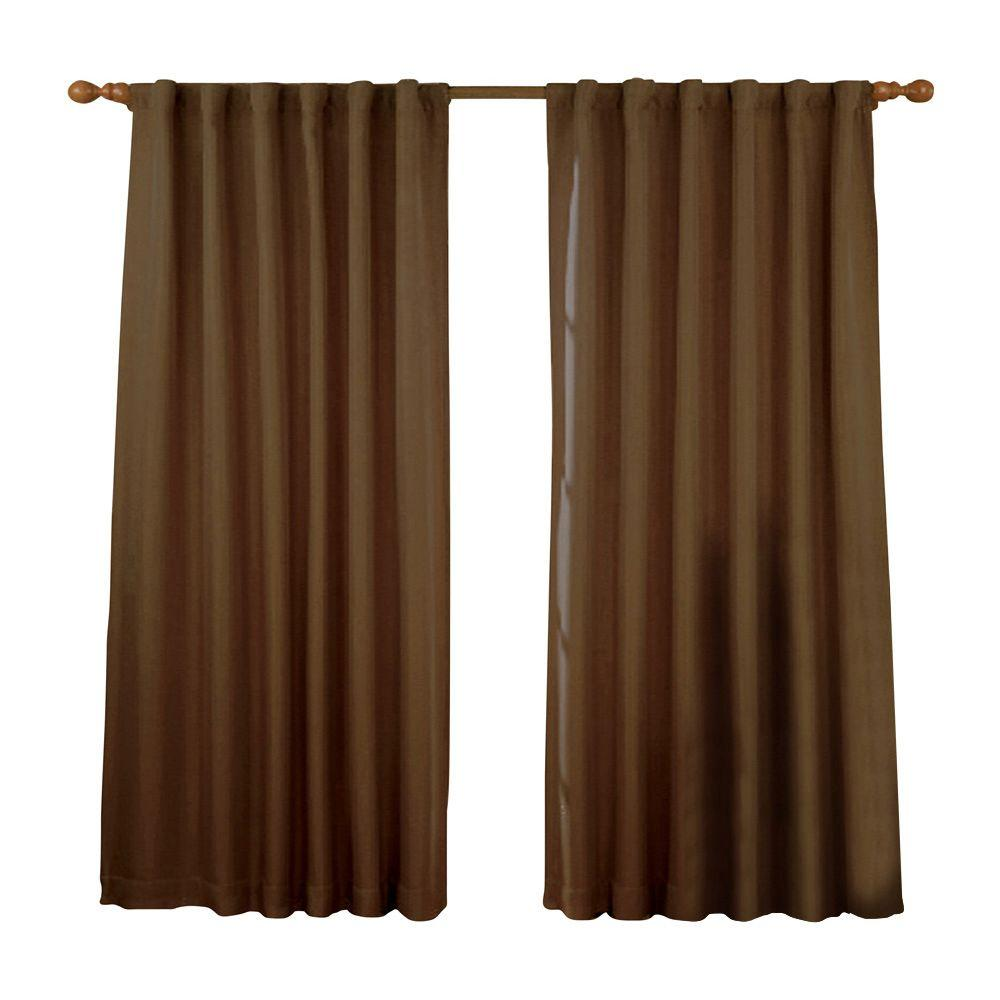 Fresno Blackout Mushroom Polyester Curtain Panel, 84 in. Length (price varies